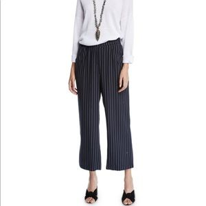 Eileen Fisher Tencel Cropped Wide-Leg Striped Pant